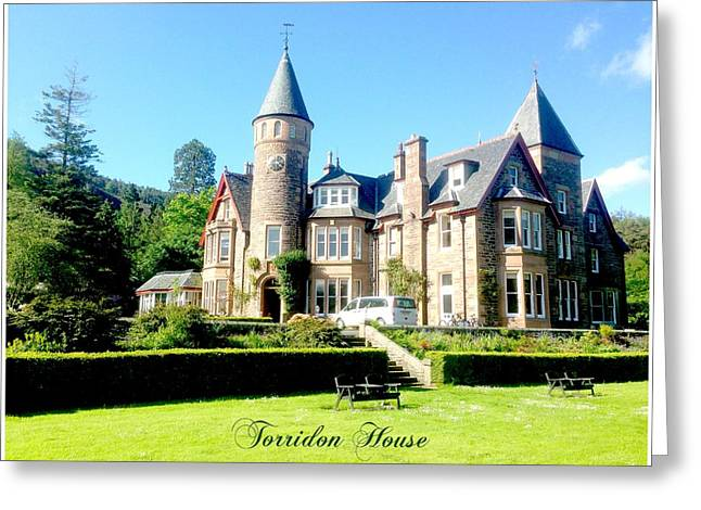 Torridon Greeting Cards - Torridon House Scotland Greeting Card by Elaine Weiss