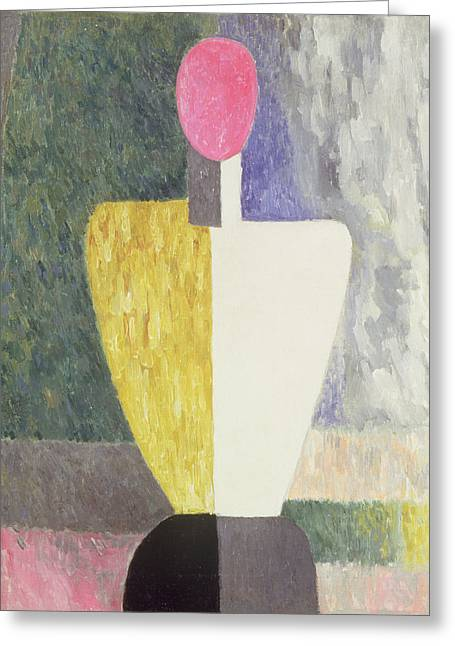 Faceless Greeting Cards - Torso, 1928-32 Oil On Canvas Greeting Card by Kazimir Severinovich Malevich