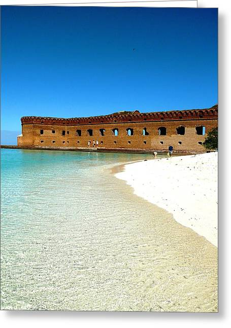 Dry Tortugas Greeting Cards - Tortuga Fort Greeting Card by Michelle Wiltz