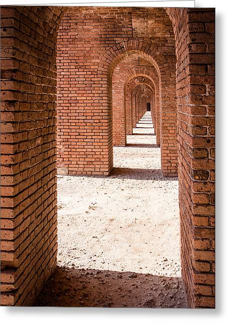 Dry Tortugas National Park Greeting Cards - Tortugas Infinite Walkway Greeting Card by Adam Pender