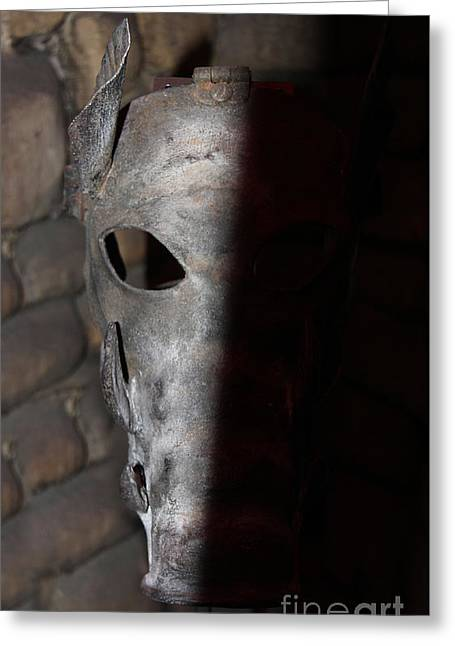 Torture Mask - Pay For Your Sins Greeting Card by Lee Dos Santos
