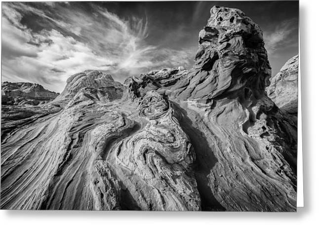 Black And White Paris Greeting Cards - Tortured Earth #2 Greeting Card by Joseph Rossbach