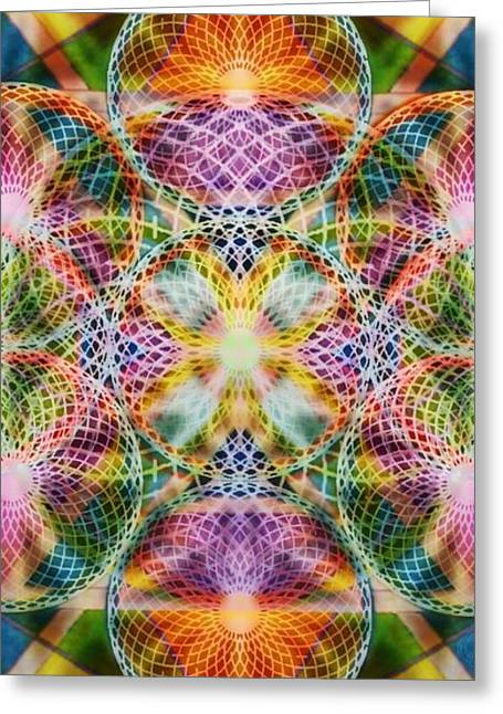 Torusphere Synthesis Bright Beginning Soulin I Greeting Card by Christopher Pringer