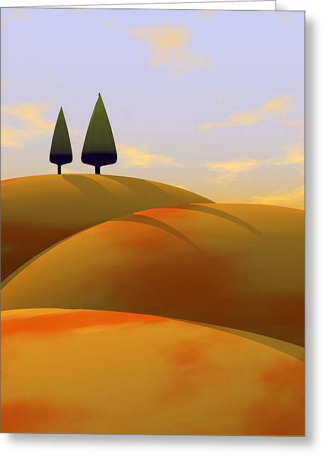 Warm Landscape Greeting Cards - Toscana 1 Greeting Card by Cynthia Decker