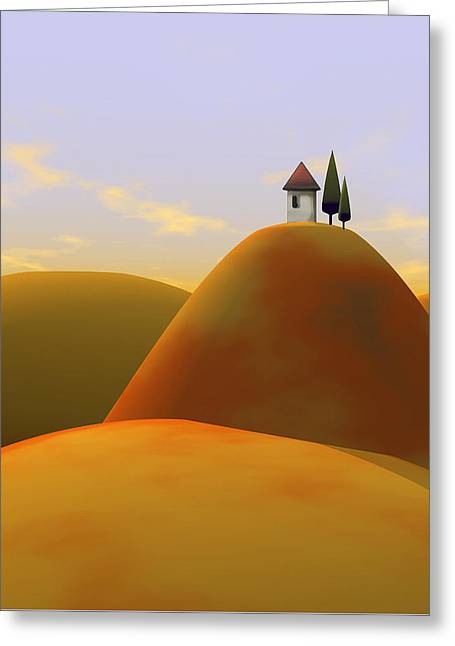 Toscana 2 Greeting Card by Cynthia Decker