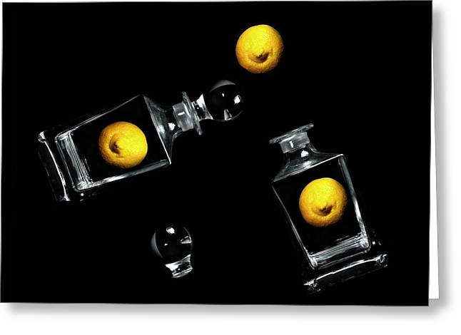Abstract Lemons Greeting Cards - Toss Me a Lemon Greeting Card by Diana Angstadt