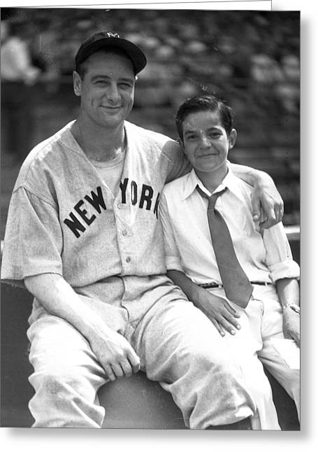 New York Great Lou Gehrig Greeting Card by Retro Images Archive