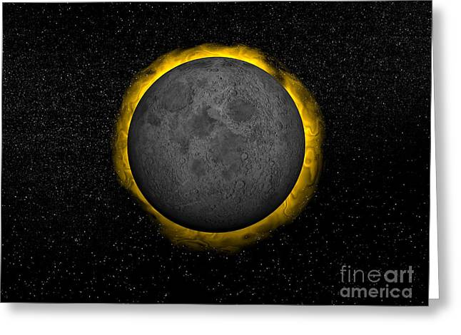 Solar Eclipse Digital Greeting Cards - Total Eclipse Of The Sun Greeting Card by Elena Duvernay