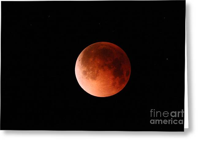 Total Lunar Eclipse Greeting Card by Stephen & Donna O'Meara