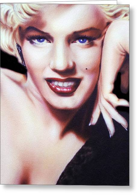 Famous Person Mixed Media Greeting Cards - Totally Marilyn Greeting Card by Georgiana Romanovna