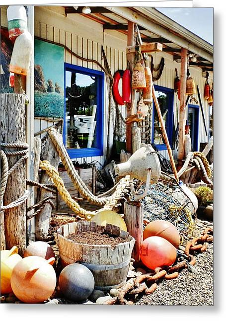 Store Fronts Greeting Cards - Totally Nautical Greeting Card by VLee Watson