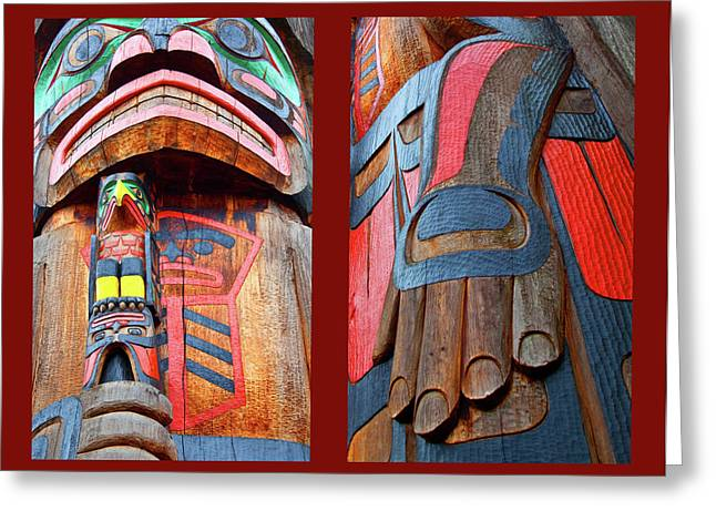 Canadian Photographer Greeting Cards - Totem 2 Greeting Card by Theresa Tahara