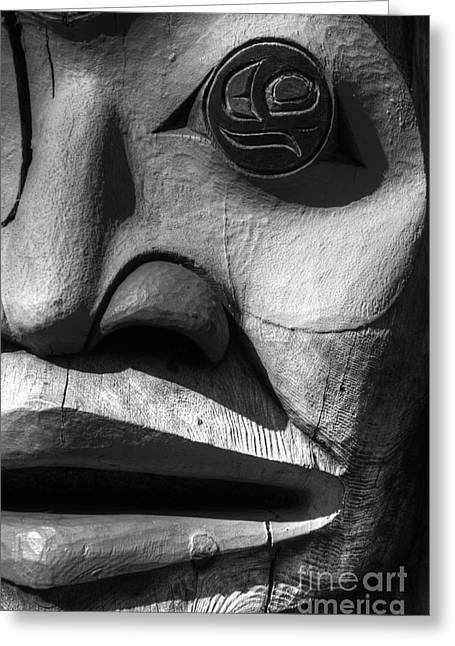 Best Sellers -  - Wooden Sculpture Greeting Cards - Totem 3 Greeting Card by Bob Christopher
