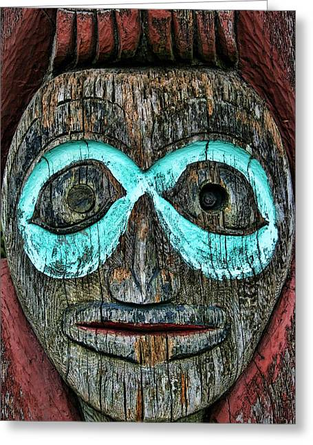 Anthropomorphism Greeting Cards - Totem Greeting Card by Heather Applegate