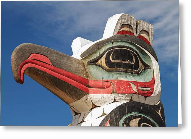 Wooden Sculpture Greeting Cards - Totem Greeting Card by Jiri Vondrous