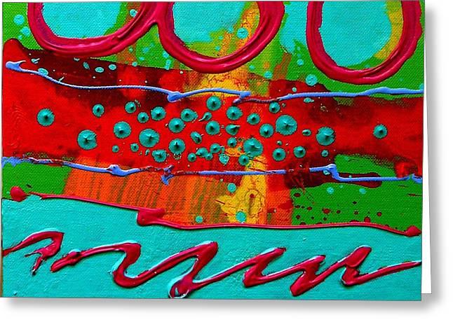 Process Paintings Greeting Cards - Totem Greeting Card by John  Nolan