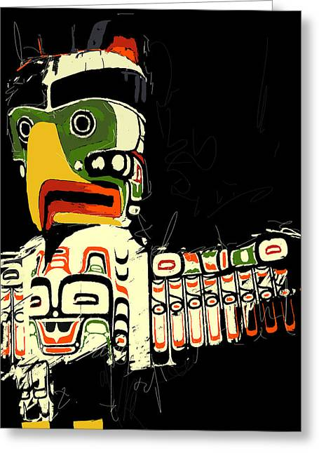 Totem Pole 01 Greeting Card by Catf