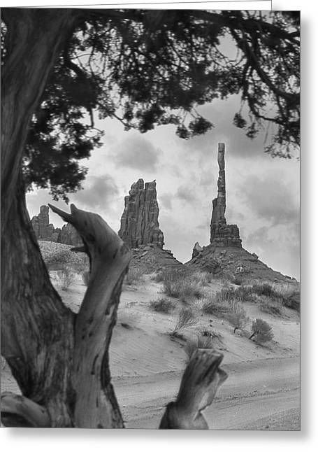 Navajo Tribal Park Greeting Cards - Totem Pole - Arizona Greeting Card by Mike McGlothlen