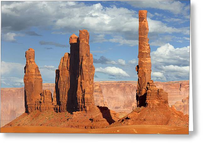 Navajo Tribal Park Greeting Cards - Totem Pole - Monument Valley Greeting Card by Mike McGlothlen