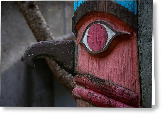 Wooden Sculpture Greeting Cards - Totem Greeting Card by Roger Reeves  and Terrie Heslop