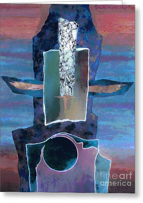 Totem Greeting Card by Ursula Freer