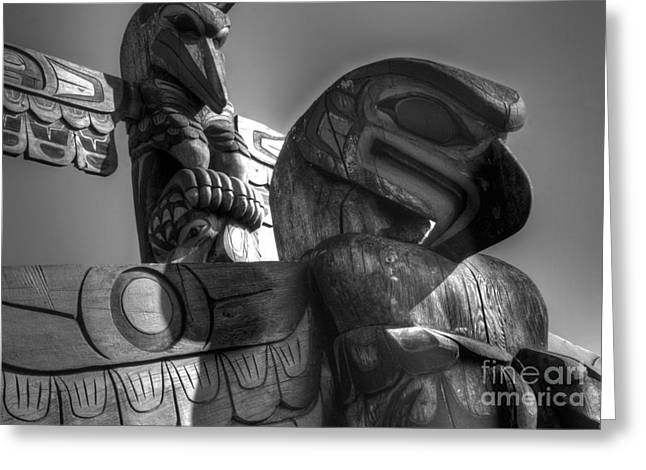 Wooden Sculpture Greeting Cards - Totems 1 Greeting Card by Bob Christopher