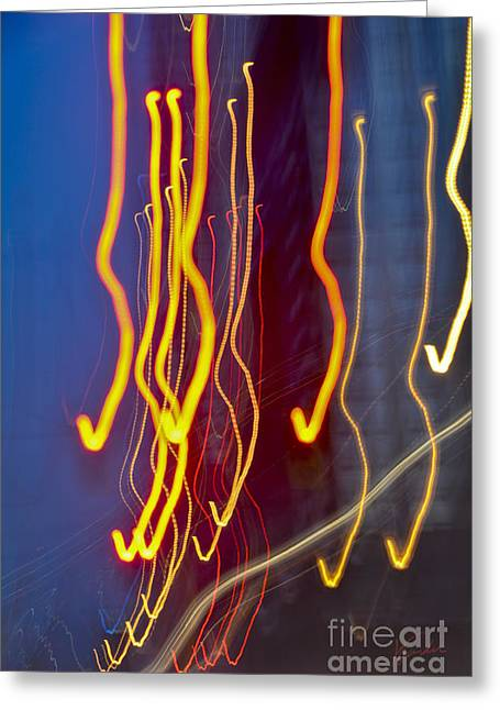 Abstract Movement Greeting Cards - Totonto Jazzed II Greeting Card by Jessie Parker