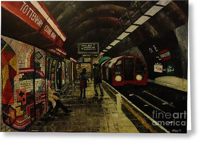 London Pastels Greeting Cards - Tottenham Court Road Greeting Card by Michael Co