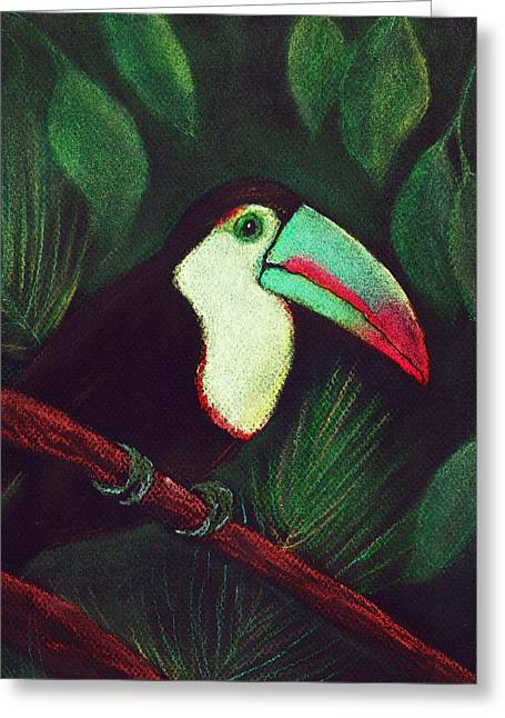Raining Pastels Greeting Cards - Toucan Greeting Card by Anastasiya Malakhova