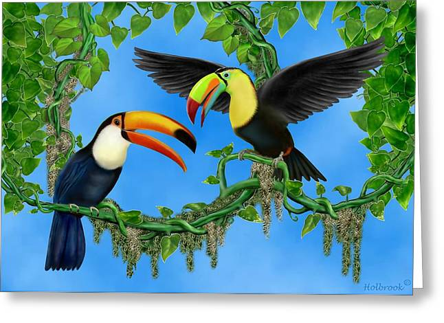 Toucan Print Greeting Cards - Toucan Play Greeting Card by Glenn Holbrook