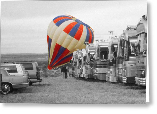Print Greeting Cards - Balloon Touch Down - Highlight Photo Greeting Card by Peter Fine Art Gallery  - Paintings Photos Digital Art