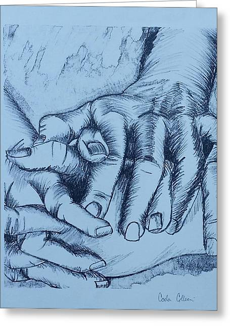 Recently Sold -  - Printmaking Greeting Cards - Touch Me Greeting Card by Carla Collucci