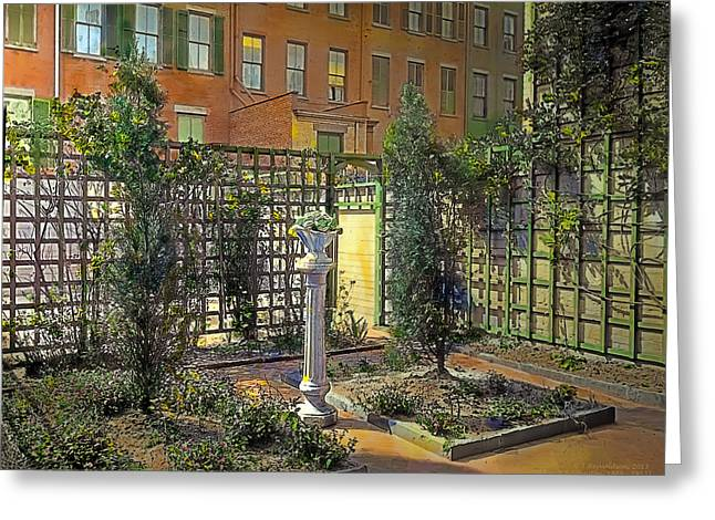 Urban Paintings Greeting Cards - Touch of Class Greeting Card by Terry Reynoldson