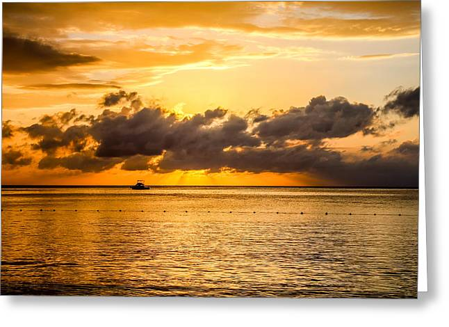 Jamaican Sunset Greeting Cards - Touch of God Greeting Card by Todd Reese
