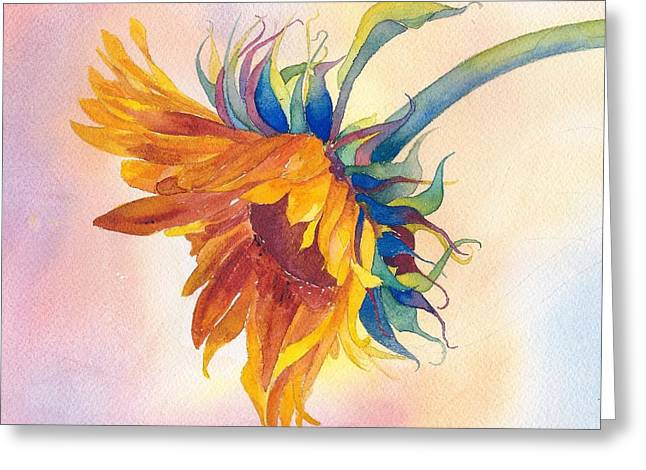 Yellow Sunflower Greeting Cards - Touch of Gold Greeting Card by Pat Yager