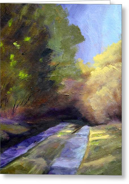 Purple Sensation Greeting Cards - Touch of Light Greeting Card by Nancy Merkle