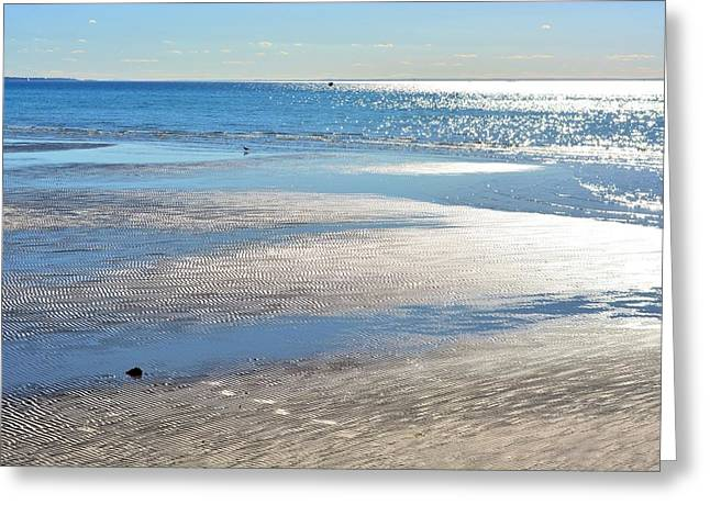 Reflections Of Sun In Water Greeting Cards - Touch of sun Greeting Card by Chandana Arts