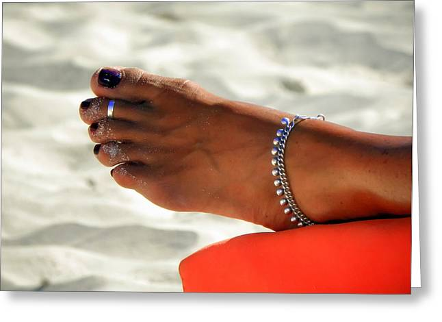 Sun Tanning Greeting Cards - TOUCH of SUN Greeting Card by Karen Wiles