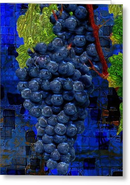 Vinegar Digital Greeting Cards - Touch Of The Grape Greeting Card by Jack Zulli