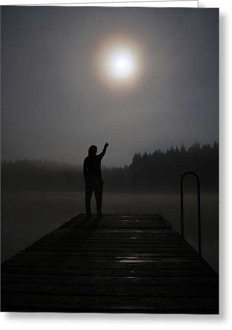 Haze Greeting Cards - Touch the Moon Greeting Card by Martin Capek
