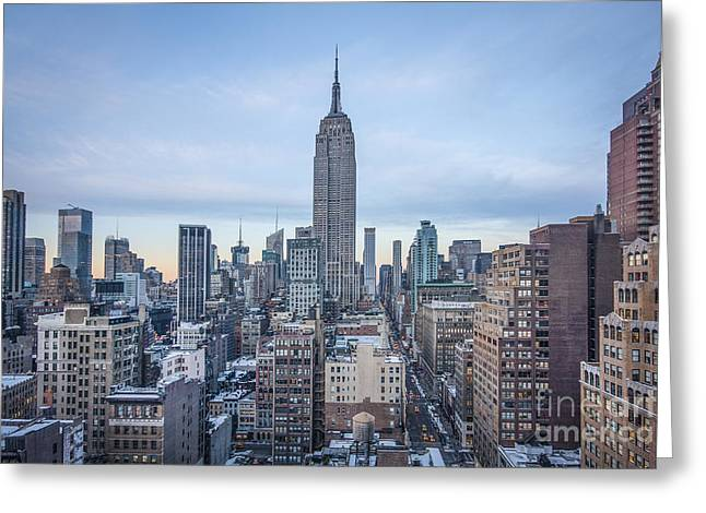 Urban Buildings Photographs Greeting Cards - Touch The Sky Greeting Card by Evelina Kremsdorf