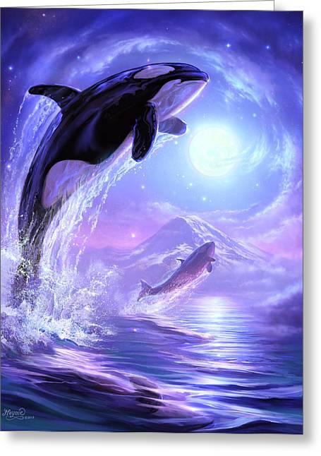 Aquatic Greeting Cards - Touch the Sky Greeting Card by Jeff Haynie
