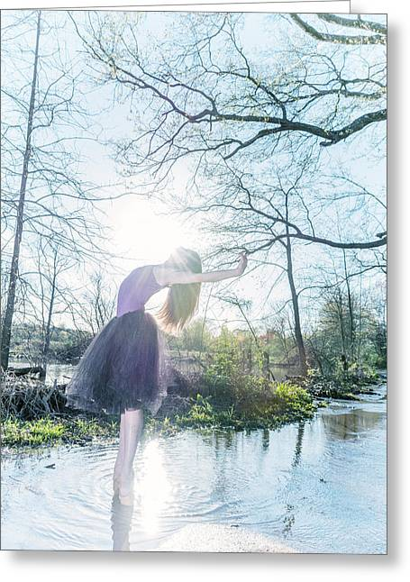 Ballet Dancers Photographs Greeting Cards - Touch the sun Greeting Card by Ryan Crane