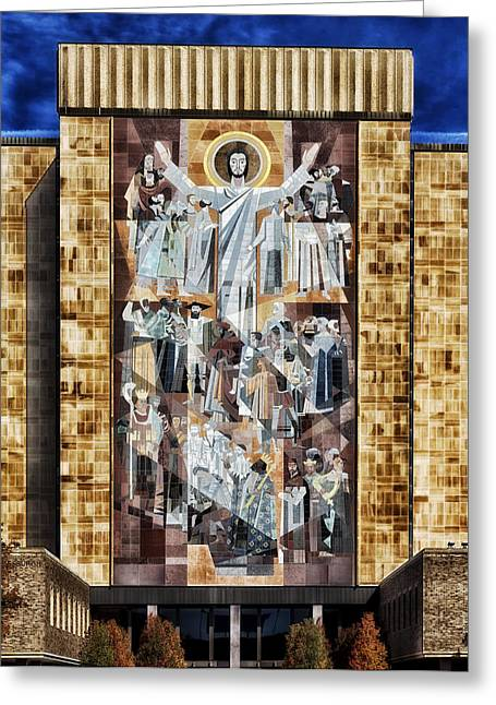 Jesus Greeting Cards - Touchdown Jesus Greeting Card by Mountain Dreams