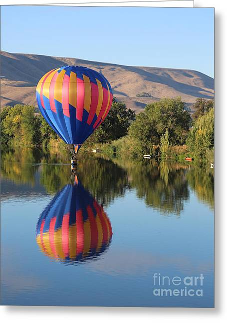 Yakima Valley Greeting Cards - Touchdown Prosser Greeting Card by Carol Groenen