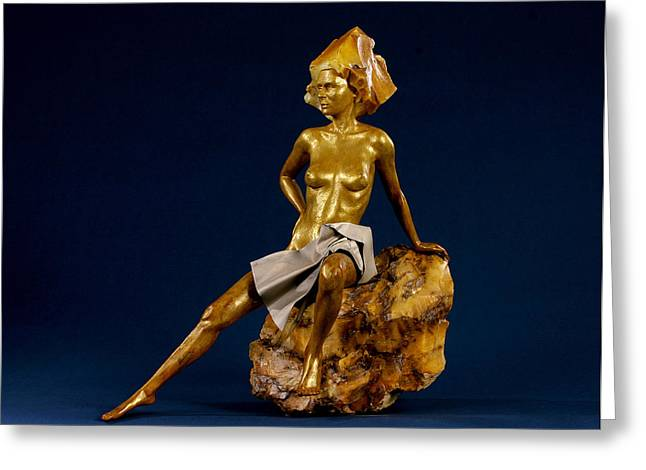 Plate Sculptures Greeting Cards - Touched by the Midas Greeting Card by Jacek Sumeradzki