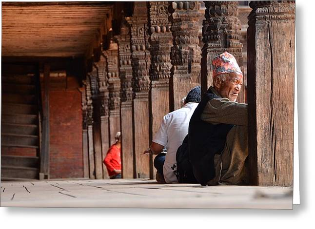 Nepal Greeting Cards - Tough Life Greeting Card by Aaron S Bedell