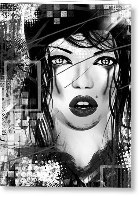Black And White Photos Mixed Media Greeting Cards - Tough Love Black Greeting Card by Melissa Smith