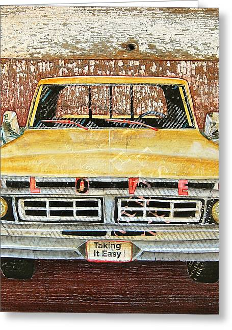 Antique Truck Greeting Cards - Tough Love Greeting Card by Danny Phillips