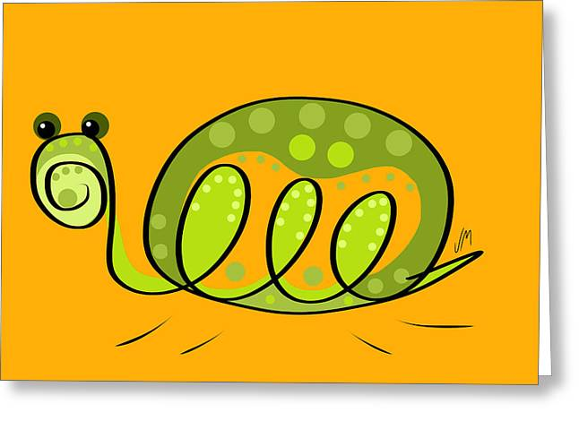 Room Decoration Greeting Cards - Thoughts and colors series turtle Greeting Card by Veronica Minozzi